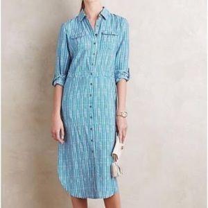 Maeve for Anthropologie Midi Shirt Dress, Sz 6